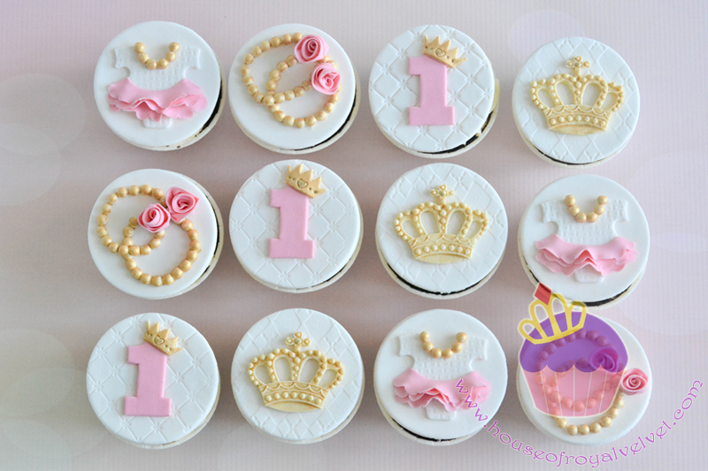 Princess themed birthday cupcake toppers