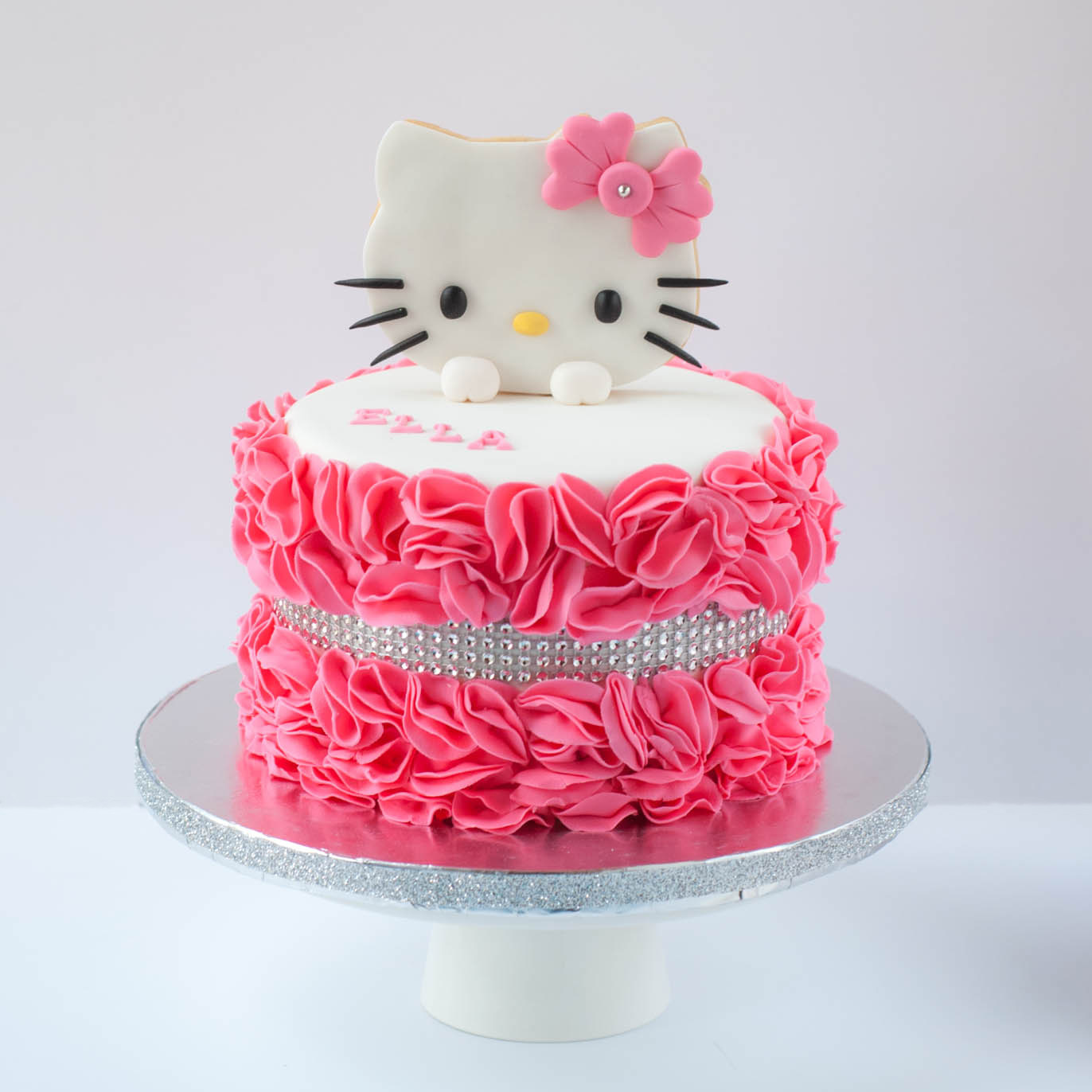 Pink and White Hello kitty birthday