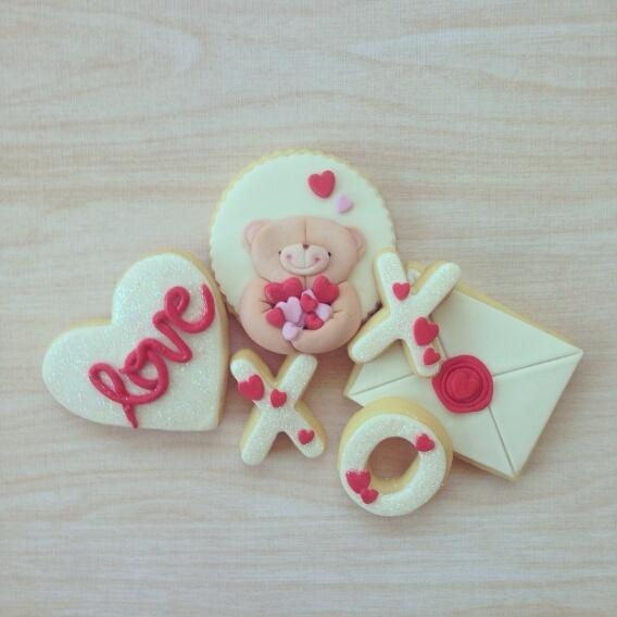 Valentine fondant Cookies