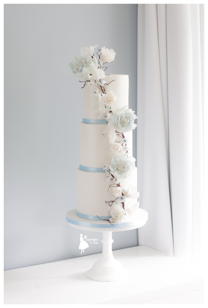 White Wedding with light blue touches