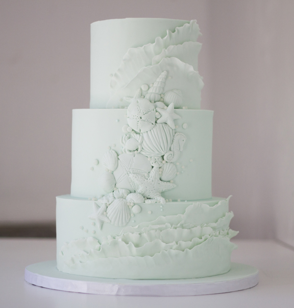 White Seashell Cake