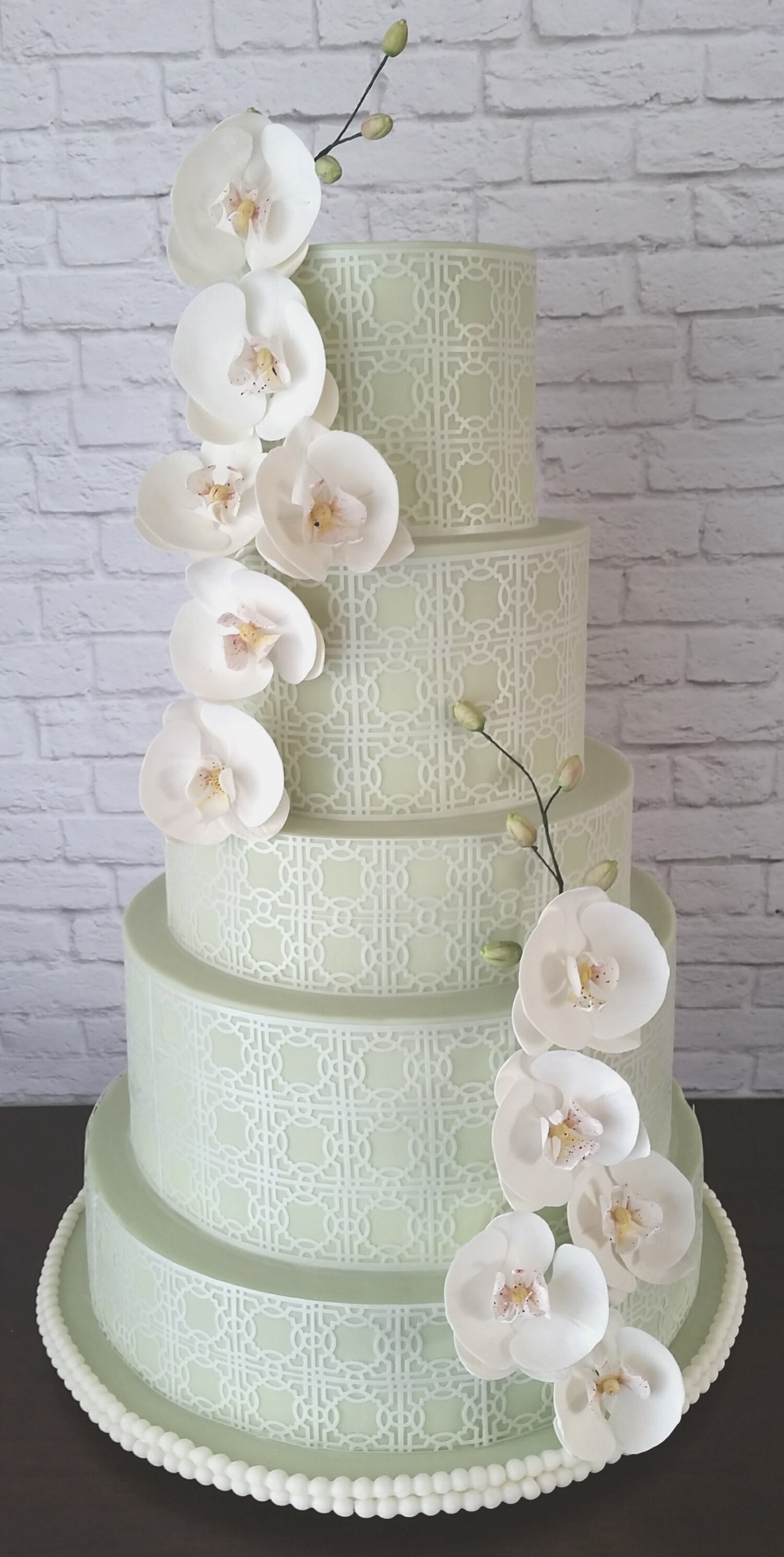 Pastel Green Wedding Cake