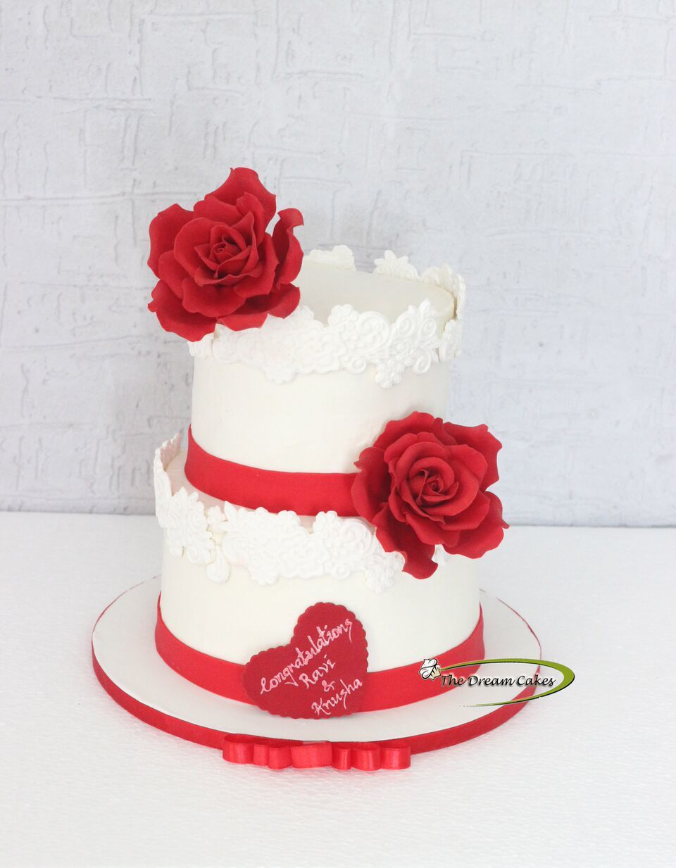 Red & white Wedding