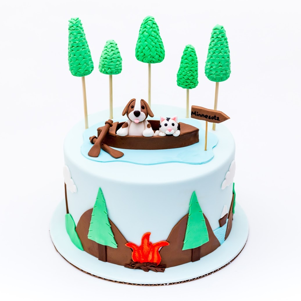 Doggies Camping Cake