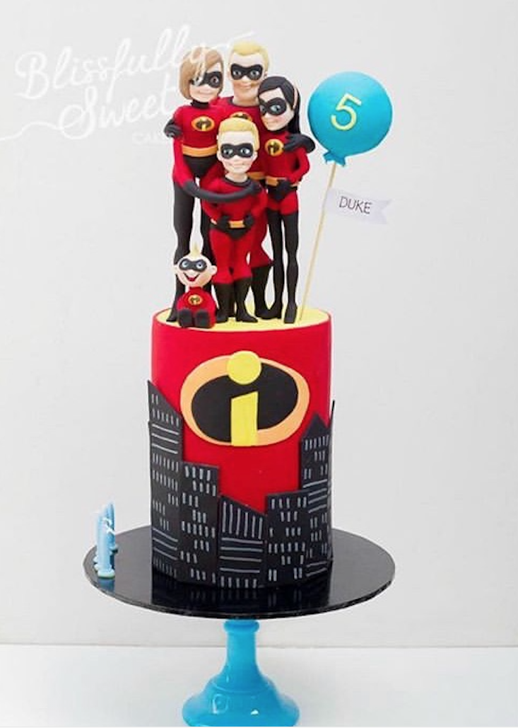 Incredibles birthday cake by Blissfully Sweet