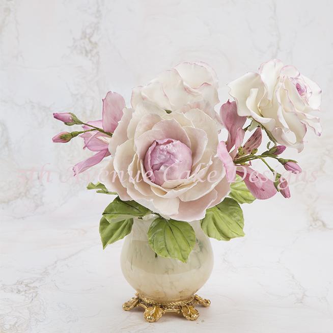 Light pink gum paste Sugar flowers
