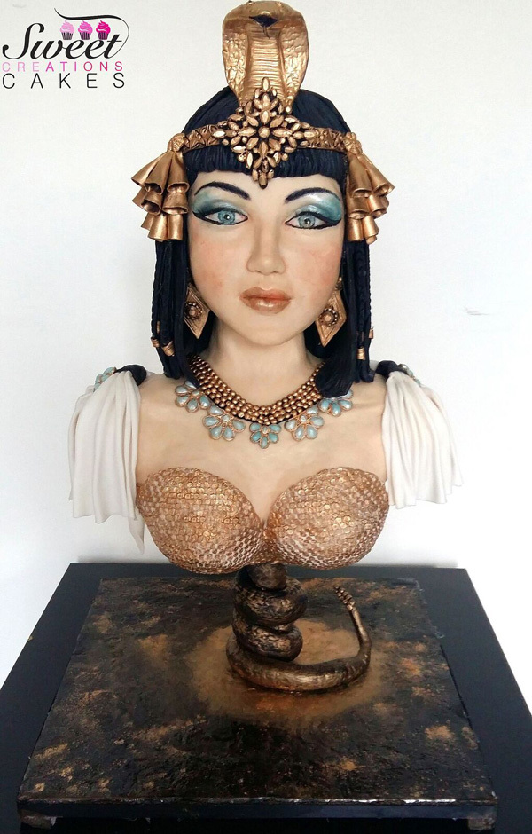 fondant Cleopatra cake bust
