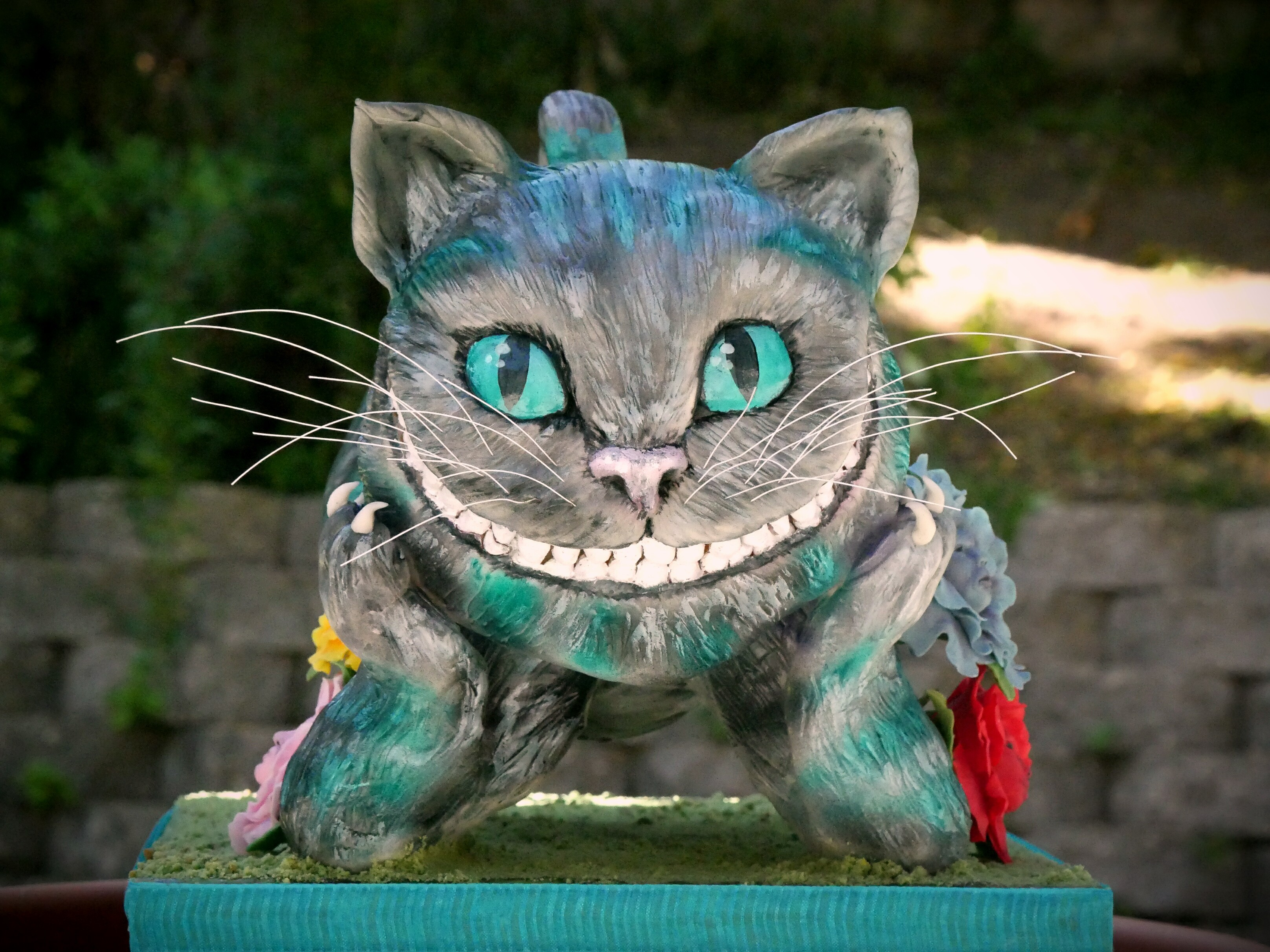 sculpted Cheshire Cat