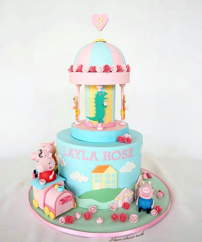 Pepa the Pig Birthday cake
