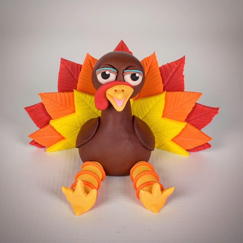 Thanksgiving Turkey cake topper