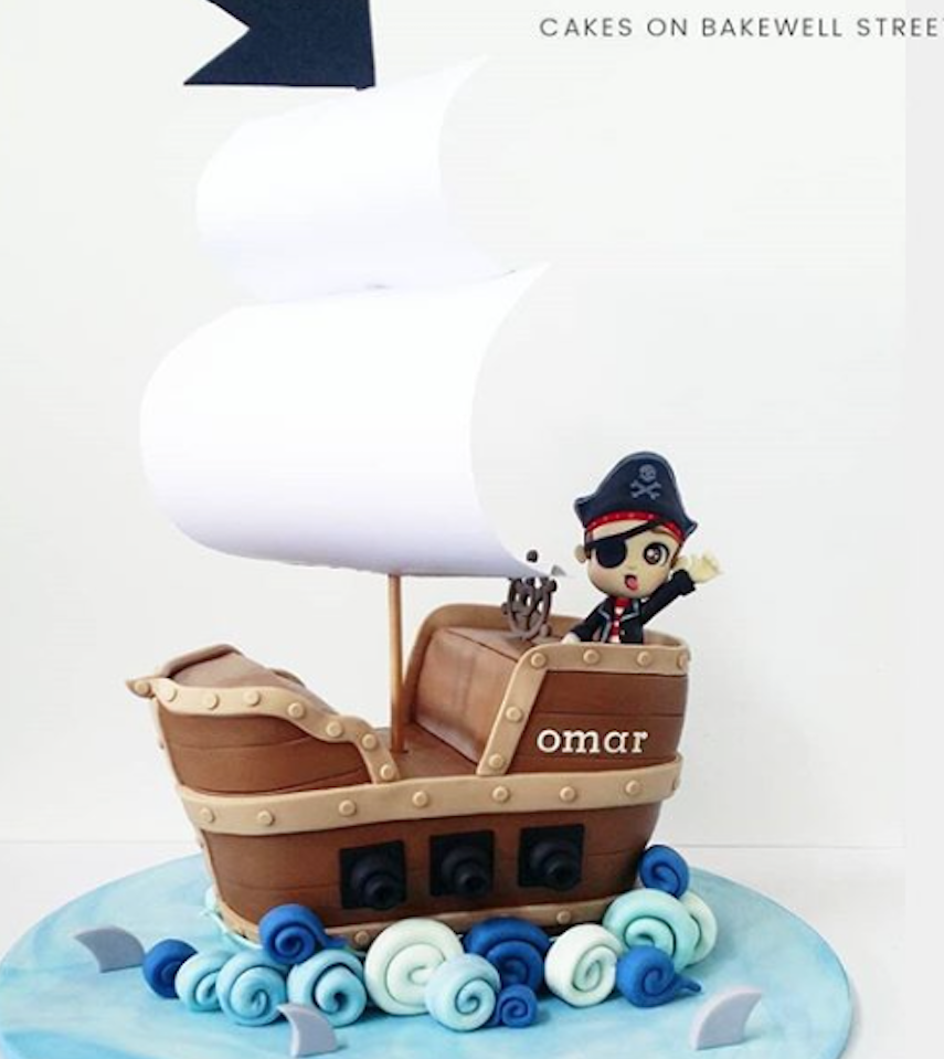 Pirate Ship cake topper