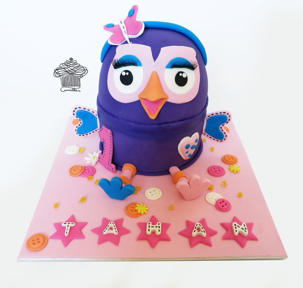 Purple little girl birthday owl