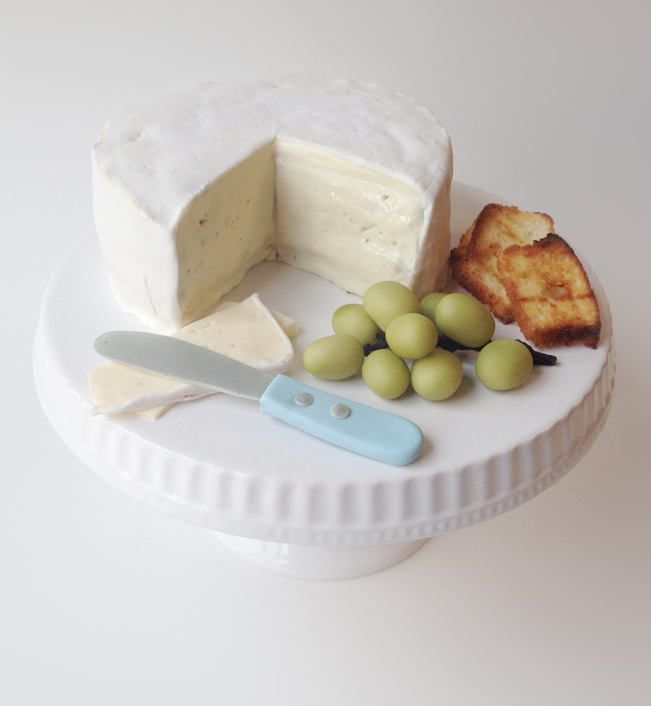 Cheese Platter shaped fondant Cake