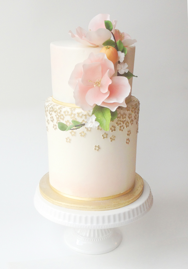 Citrus Cake with peach accents