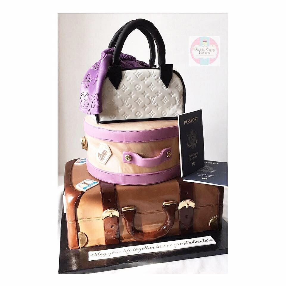 Luggage Novelty fondant Wedding Cake