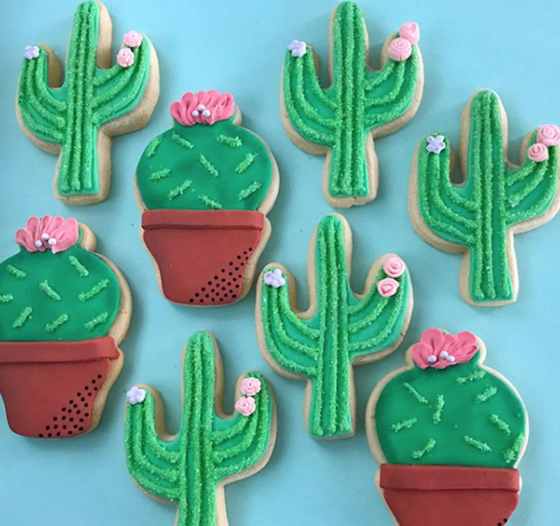 Green Southwest Cactus Cookies