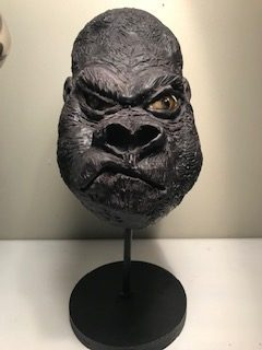 Modeling chocolate gorilla bust