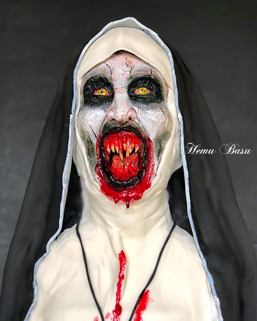 Vampire Nun bust cake