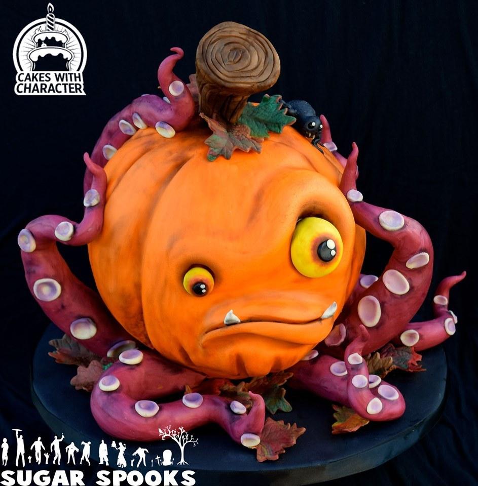 Zombie Jack O'Lantern cake