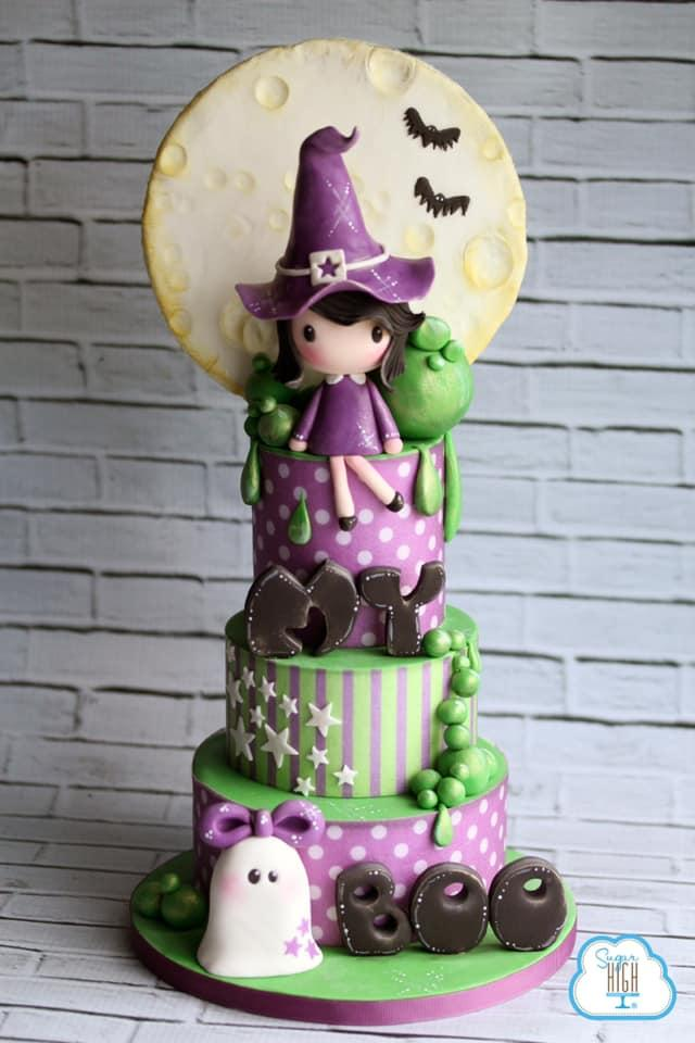 Witch Halloween cake