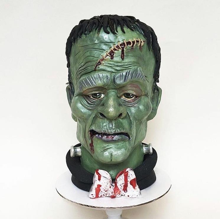 Frankenstein bust cake