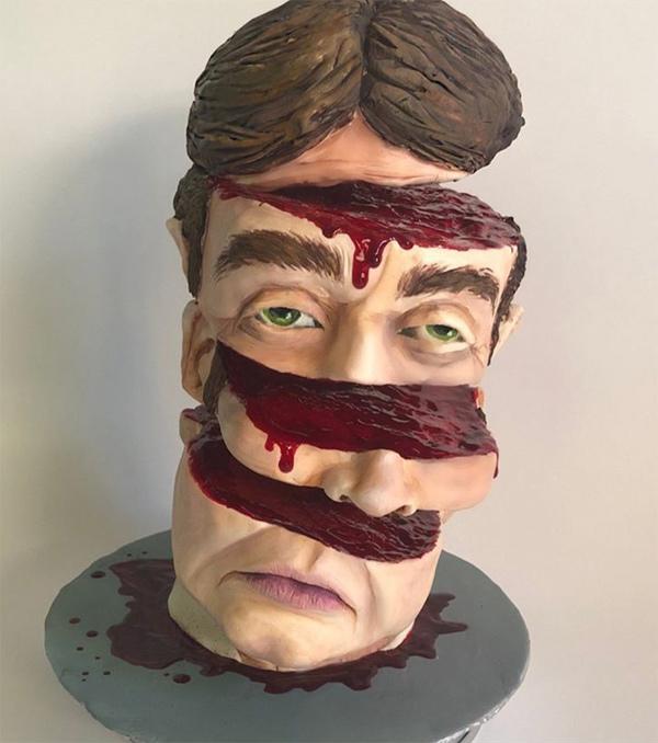 Halloween bust cake