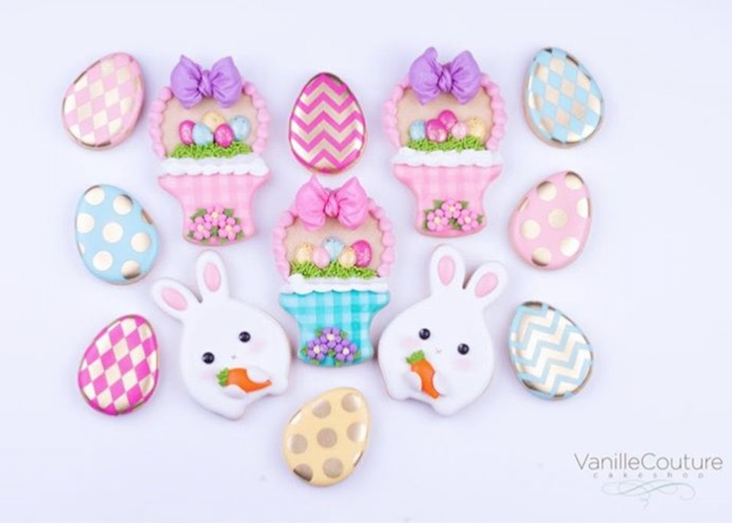 Covering Chocolate Easter Cookies