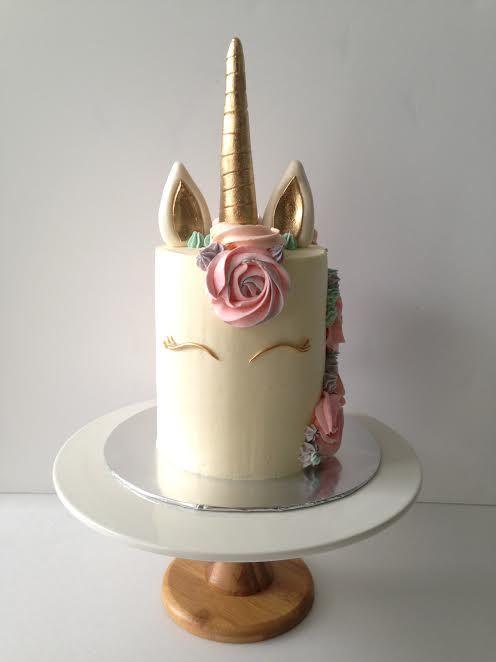 Unicorn Barrel Birthday Cake