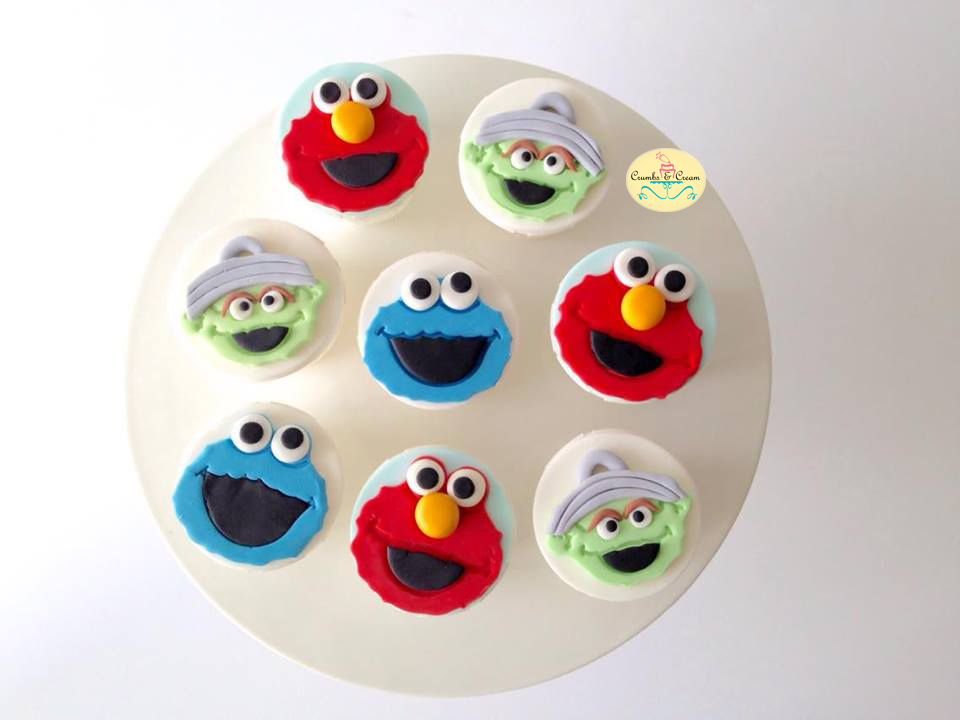 Sesame Street themed birthday cupcakes