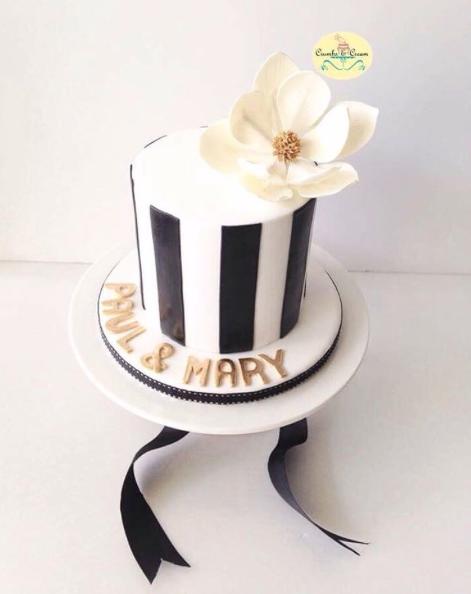 Black and White Striped Mini Wedding