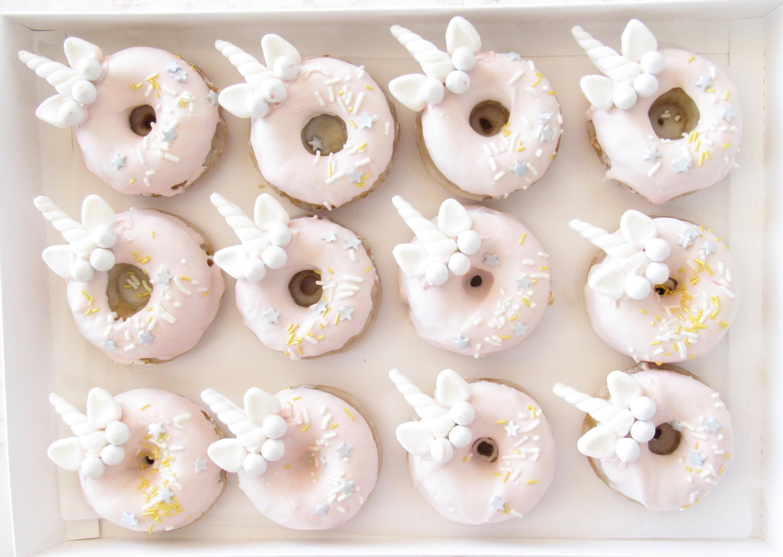 Unicorn fondant donuts