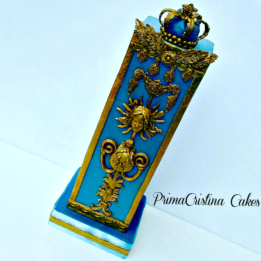 Blue with gold embossing