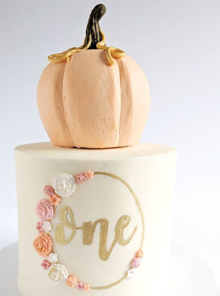 Fall Pumpkin 1st birthday cake
