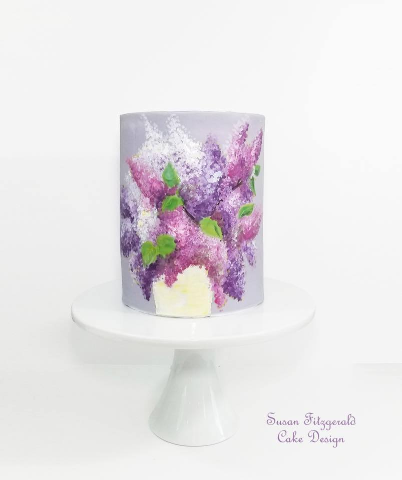 Purple watercolor cake