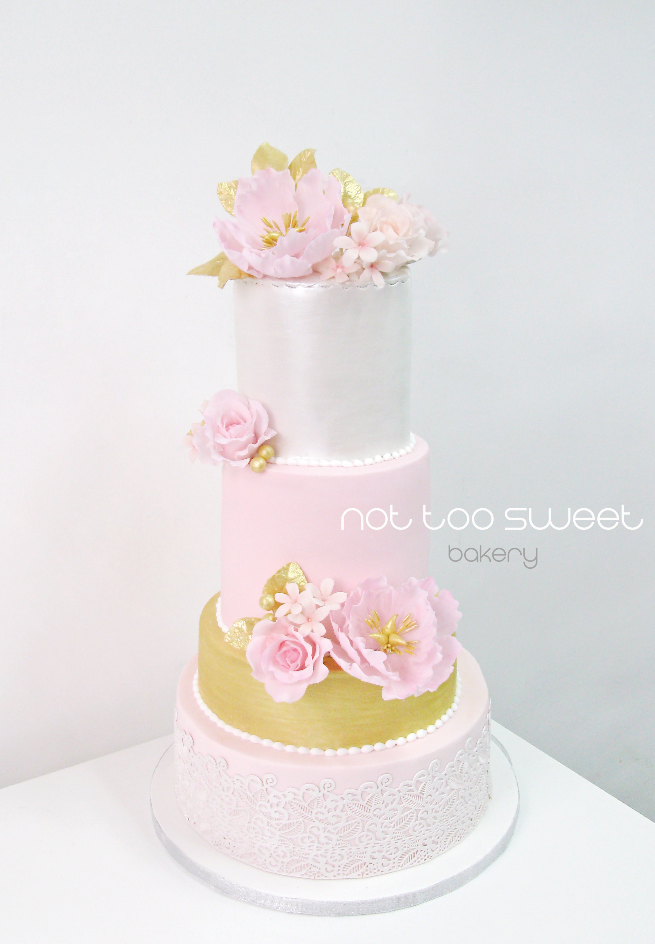 Pink with gold and silver wedding