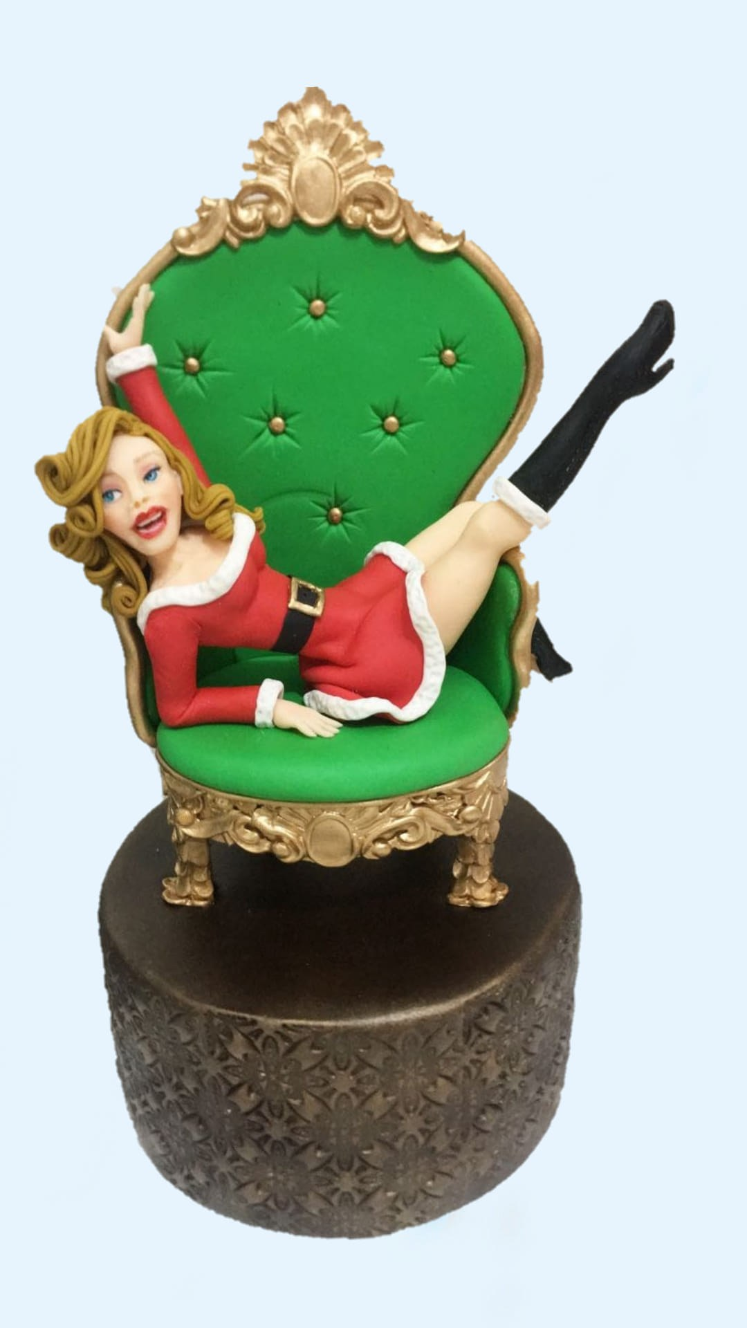Santa girl figurine