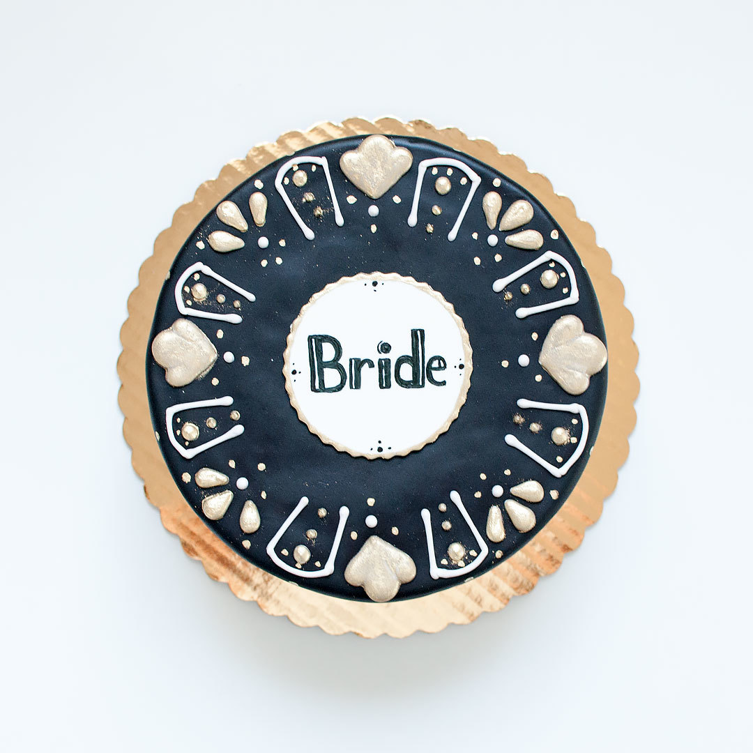 Black and White Wedding Cookies