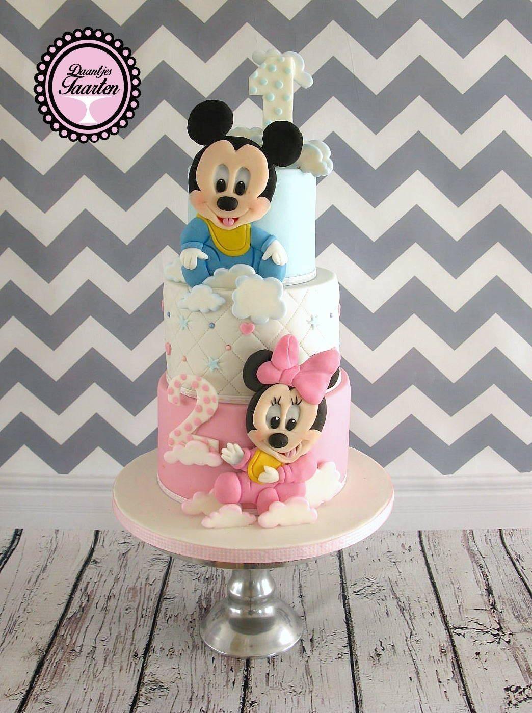Minnie and Mickey Birthday Cake