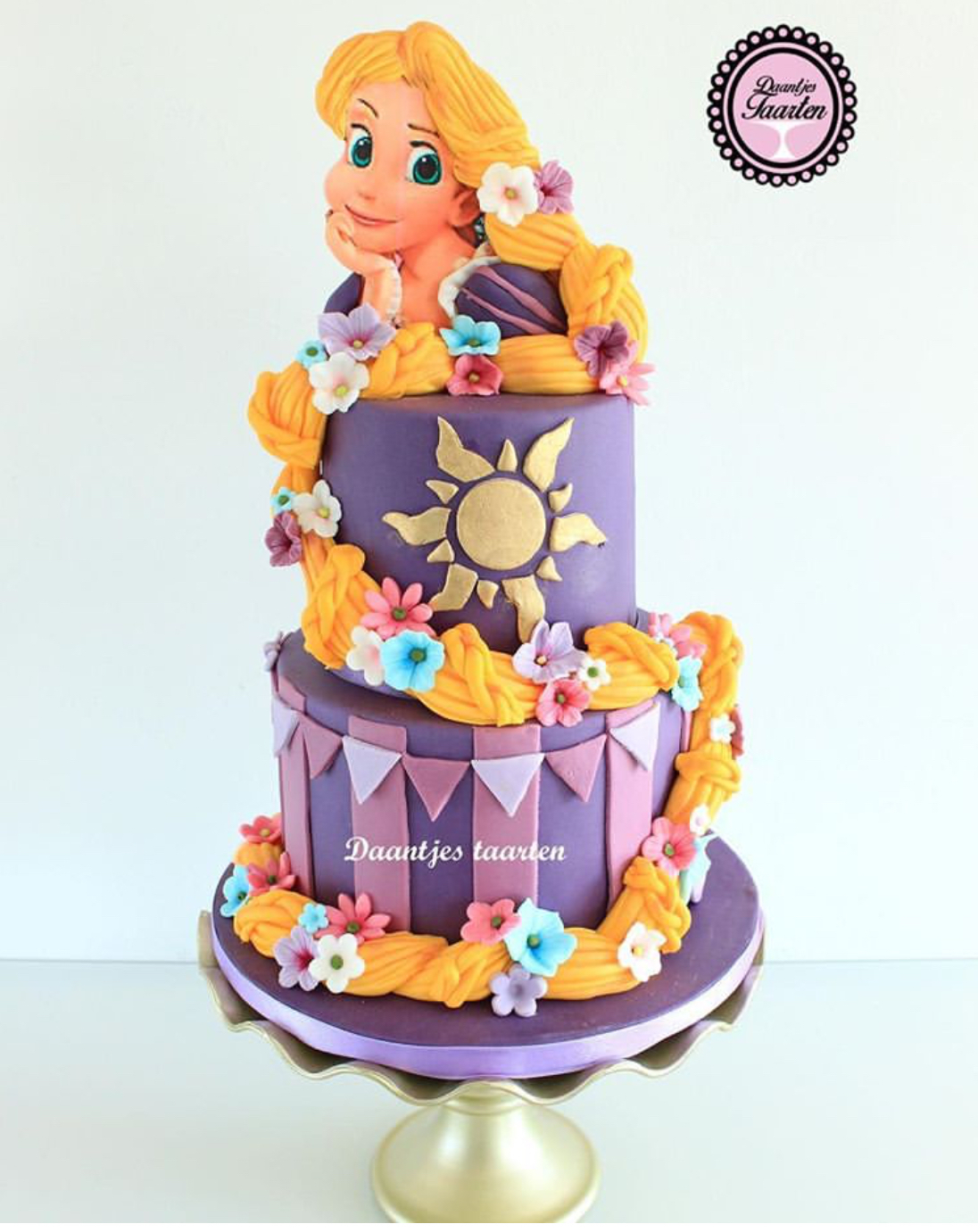 Rapunzel inspired by Tangled birthday cake