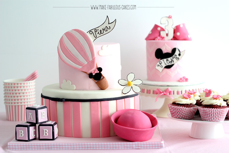 Pink & White Balloon Birthday