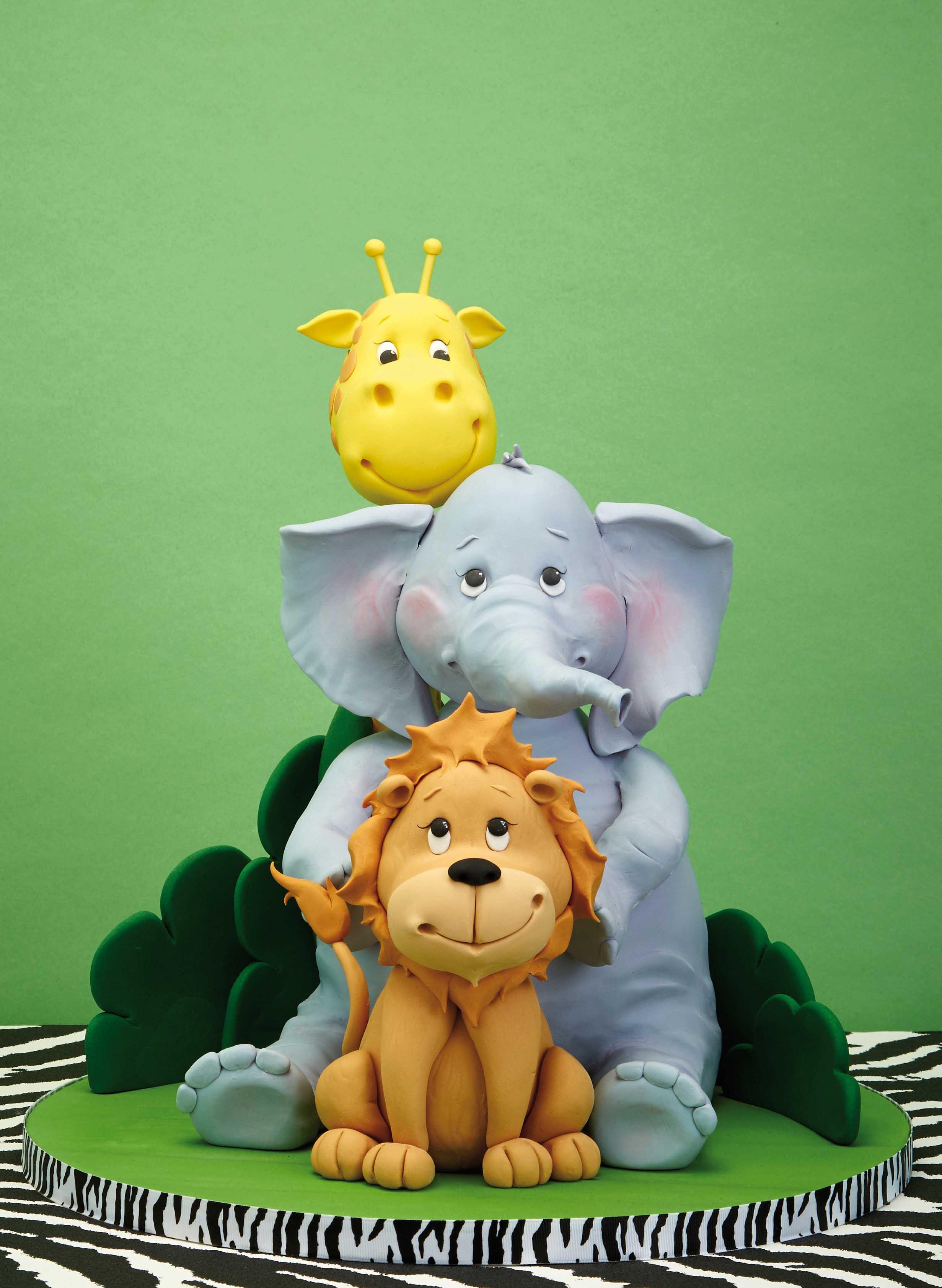 Fondant Safari figurines