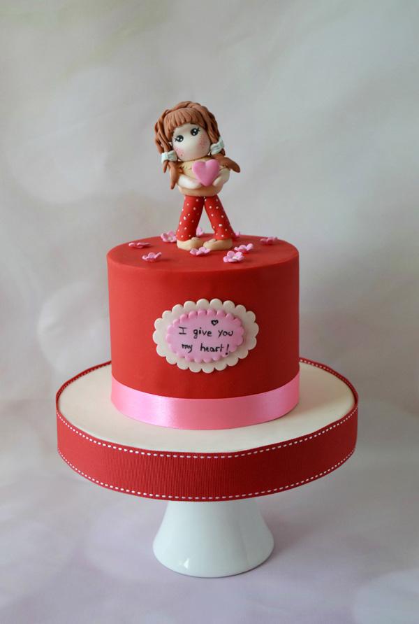 Mini Cake with Girl