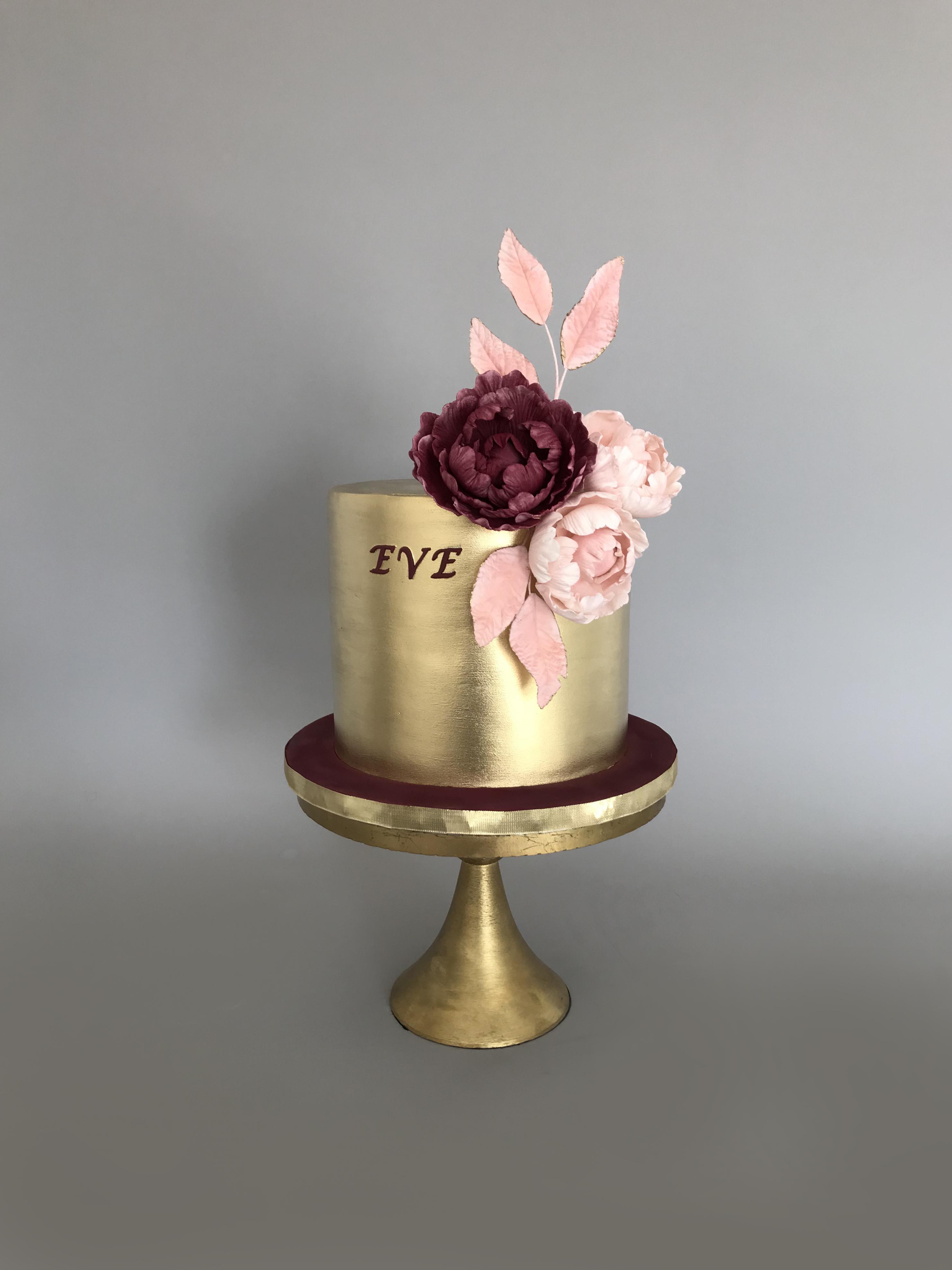 All gold fondant cake