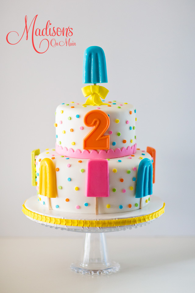 Popsicle birthday cake