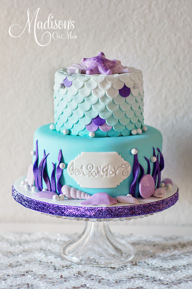 Ocean coral cake