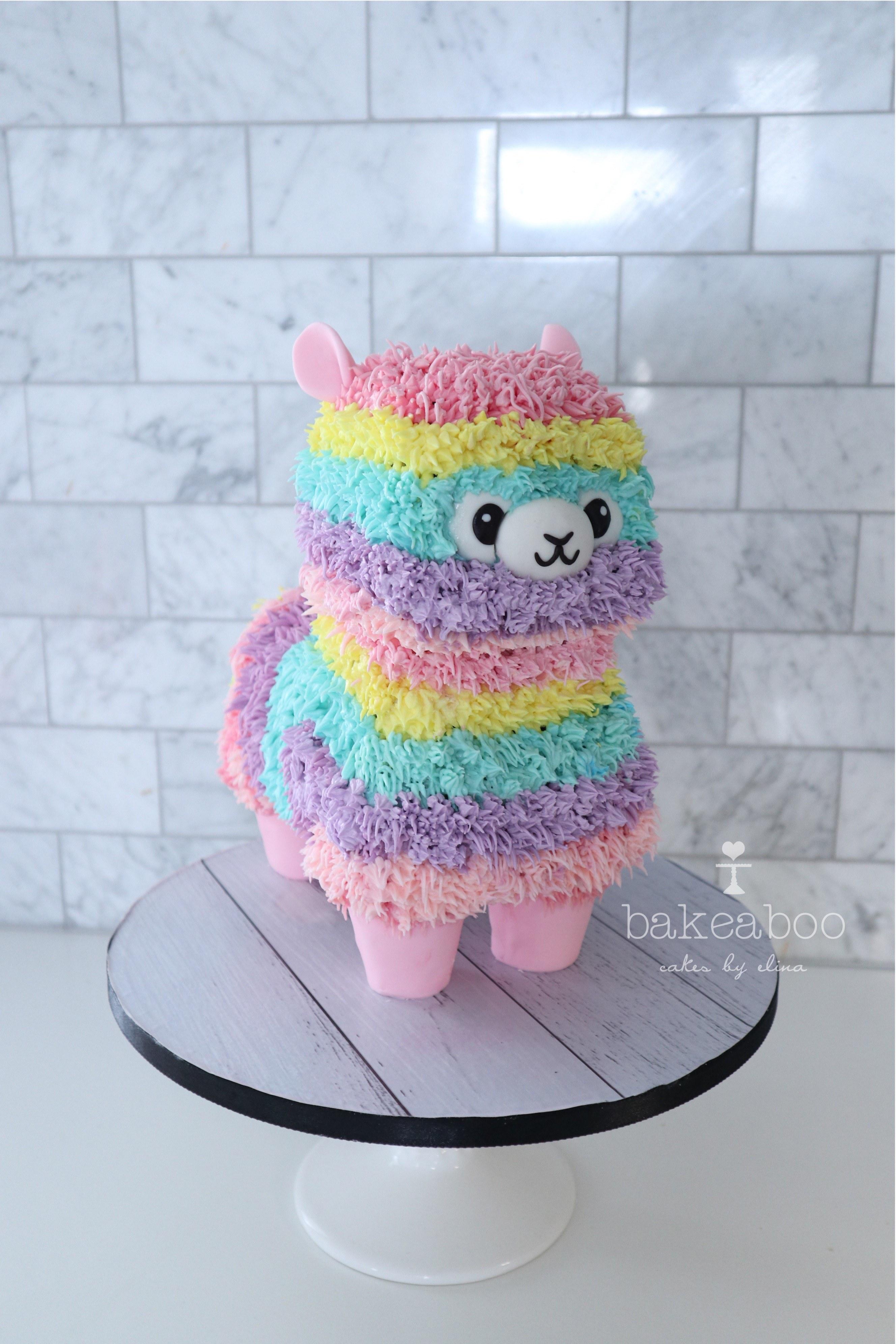 Buttercream alpaca cake