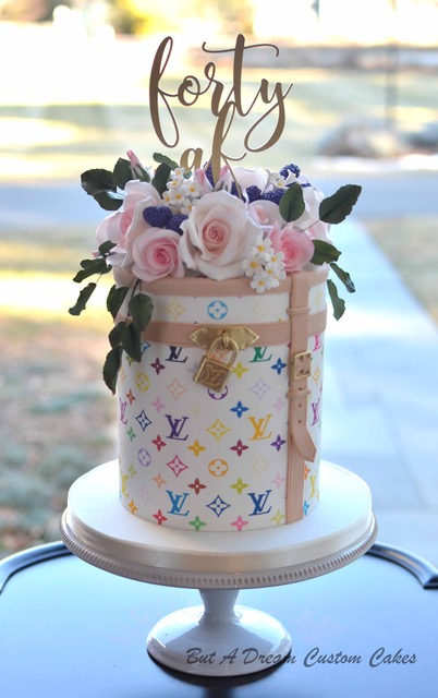 Louis Vuitton patterned birthday cake