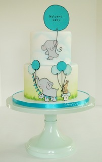 Elephant fondant  baby cake