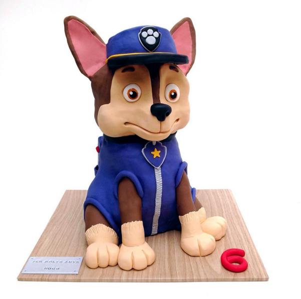 Paw Patrol sculpted fondant bust cake