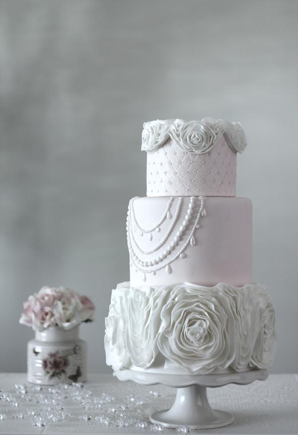 baby pink ruffle wedding